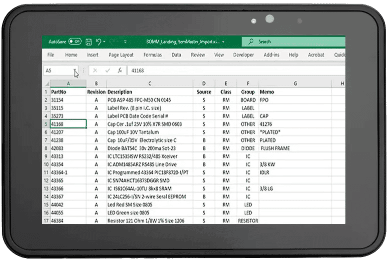 Import Item Masters from Excel