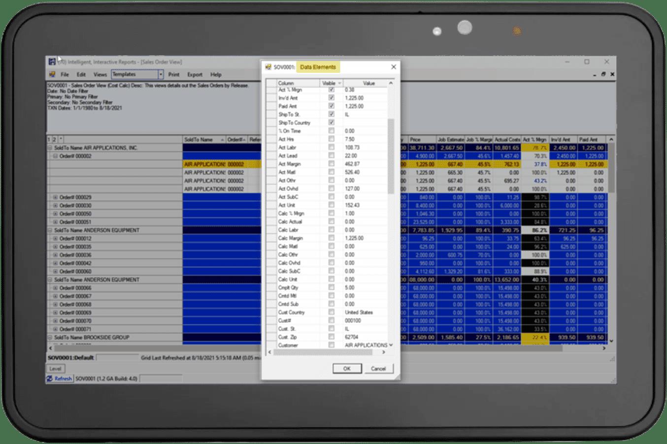 700 pre-configured data elements
